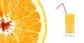 Free Slice Of Fresh Orange And Juice Stock Photos - 32890173