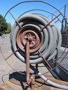 Free Gray Pipe On A Reel Royalty Free Stock Photos - 3298198