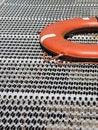 Free Orange Life Ring On Grating Stock Photos - 3298293