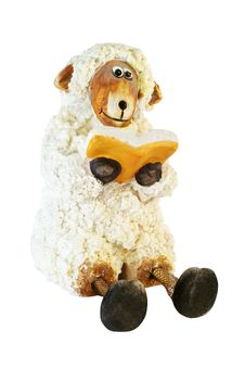 Free Sheep Statuette Royalty Free Stock Photo - 3291345
