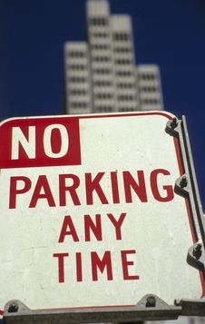 No Parking Sign No.1 Royalty Free Stock Images