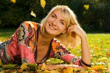 Free Blond Cheerful Girl Stock Photos - 3291683