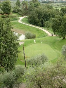 Free Golfer In Montecatini Royalty Free Stock Photography - 3294897