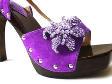 Violet Woman Shoes Stock Photo