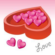 Free Love Shape Chocolate Royalty Free Stock Image - 3295846