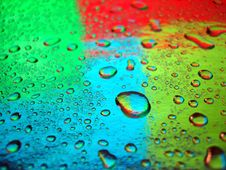 Free Varicoloured Water Drops Stock Images - 3296114