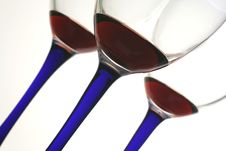 Free 3 Wine Glasses On An Angle. Royalty Free Stock Image - 3296236