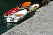 Free Boats At The Enbankment/ Spain Stock Photos - 3297193