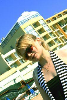 Free Girl On Yhe Beach Stock Photo - 3297740