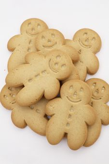 Free Gingerbread Men Royalty Free Stock Photography - 3298157