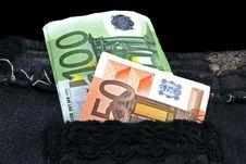 Pocket Full Of Money Royalty Free Stock Photo