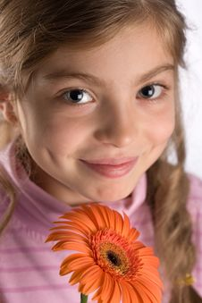 Free Girl With A Flower Stock Photos - 3299273