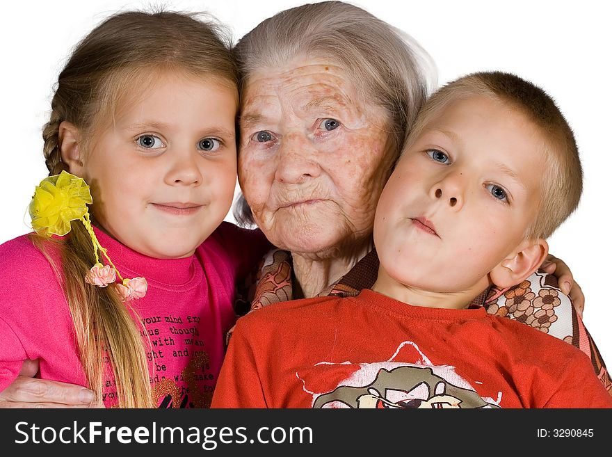 Grandsons and the grandmother