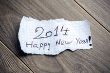 Free Happy New Year 2014 Stock Images - 32969744