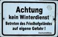 Free German Warning Sign Stock Photo - 32974550