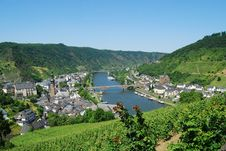 Free Cochem Mosel & Vineyards Stock Photos - 32972453