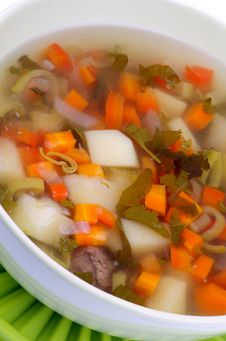 Free Vegetable Soup Royalty Free Stock Photography - 32976247