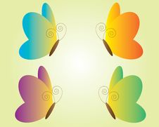 Free Set Of Butterfly Icons Stock Photography - 32977392