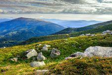 Free Slopes Of Mountain Strewn With Stones Royalty Free Stock Image - 32978716
