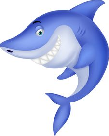 Free Cute Shark Cartoon Royalty Free Stock Photography - 32979487