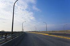 Free Dienfenbaker Bridge In Prince Albert Royalty Free Stock Photos - 32984518