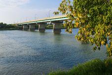 Free Dienfenbaker Bridge In Prince Albert Royalty Free Stock Images - 32984589