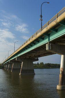 Free Dienfenbaker Bridge In Prince Albert Royalty Free Stock Photo - 32984755