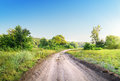 Free Winding Road In A Field Stock Photos - 32991243