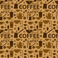 Free Coffee Pattern Royalty Free Stock Photo - 32992145