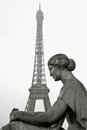Free Old Statue With Eiffel Tower In The Background In Paris, France, Stock Image - 32997201