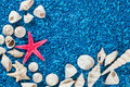 Free Star-fish And Seashells On Sand Royalty Free Stock Photography - 32997517