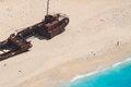 Free Shipwreck Panagiotis In Zakynthos Bay, Greece Royalty Free Stock Photography - 32997667