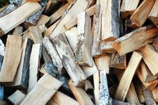 Free Firewood Of Various Breeds Of Trees. Royalty Free Stock Photos - 32990808