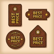 Free Best Price Leather Labels Royalty Free Stock Images - 32992109