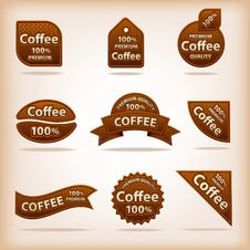 Free Coffee Labels Royalty Free Stock Photo - 32992125