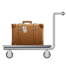 Free Luggage Cart Royalty Free Stock Photos - 32992138