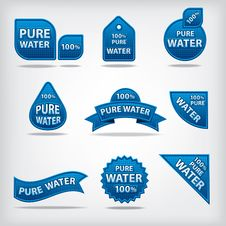 Free Pure Water Labels Stock Photos - 32992143