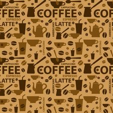 Free Coffee Pattern Royalty Free Stock Photo - 32992145