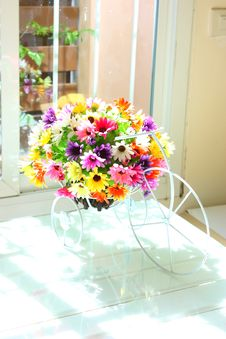 Free Beautiful Plastic Flowers Royalty Free Stock Photo - 32992255