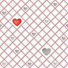 Free White Tiles Texture With  Hearts, Seamless Square Background Stock Photos - 32992603
