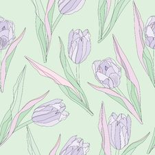 Free Flower Tulips Seamless Background. Stock Image - 32992761