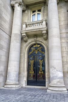 Chateau Door Royalty Free Stock Photography