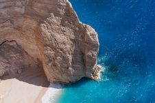 Free Navagio Beach Cliff, Zakynthos, Greece Stock Photos - 32997683