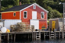 Fishing Village Of Northwest Cove, Nova Scotia Stock Photos