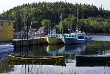 Fishing Boats In Northwest Cove, Nova Scotia Royalty Free Stock Image