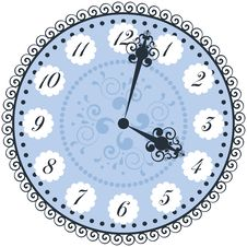 Vector Old Vintage Clock Face Royalty Free Stock Photo