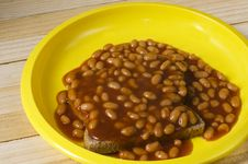 Free Baked Beans On Toast Royalty Free Stock Photos - 32999168