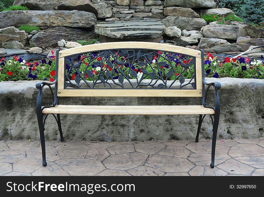 Ornate Park Bench