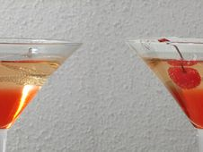 Free Half Side Of Red White Drink Stock Photos - 330873