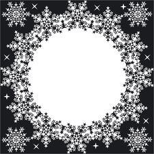 Free Winter Frame With Snowflakes Stock Photo - 331230